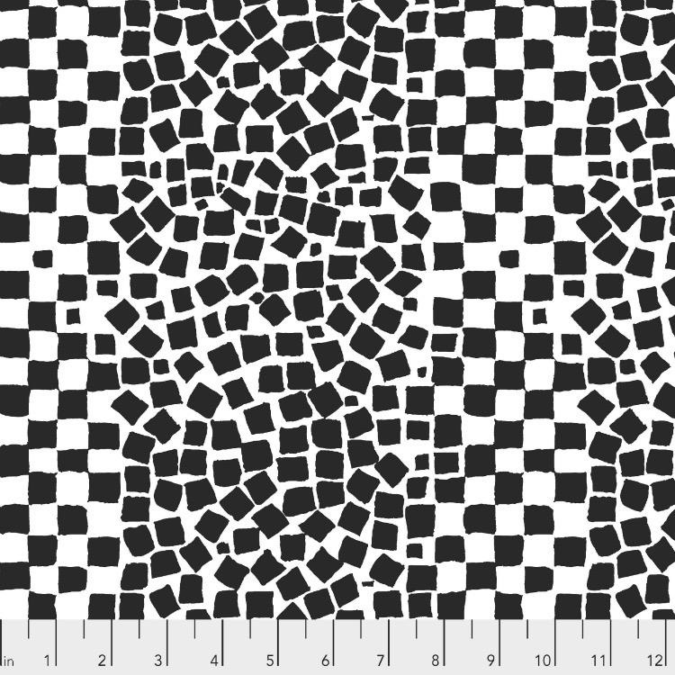 Brandon Mably Kaffe Collective 2019, Chips in White, Fabric Half-Yards  PWBM073