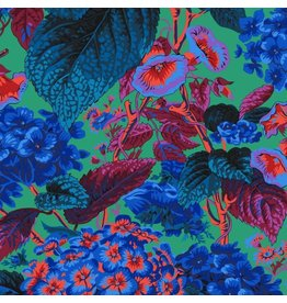 Philip Jacobs Kaffe Collective 2019, Rose and Hydrangea in Blue, Fabric Half-Yards  PWPJ097