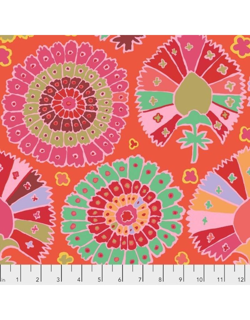 PD's Kaffe Fassett Collection Kaffe Collective 2019, Turkish Delight in Red, Dinner Napkin