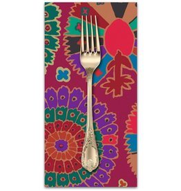 PD's Kaffe Fassett Collection Kaffe Collective 2019, Turkish Delight in Wine, Dinner Napkin