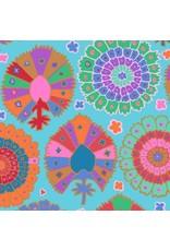 Kaffe Fassett Kaffe Collective 2019, Turkish Delight in Aqua, Fabric Half-Yards  PWGP081