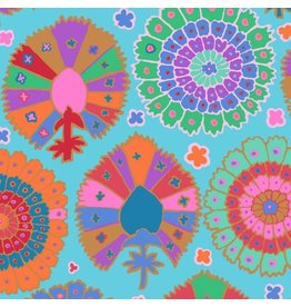 Kaffe Fassett Kaffe Collective 2019, Turkish Delight in Aqua, Fabric Half-Yards  PWGP081