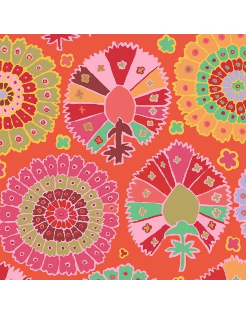 Kaffe Fassett Kaffe Collective 2019, Turkish Delight in Red, Fabric Half-Yards  PWGP081
