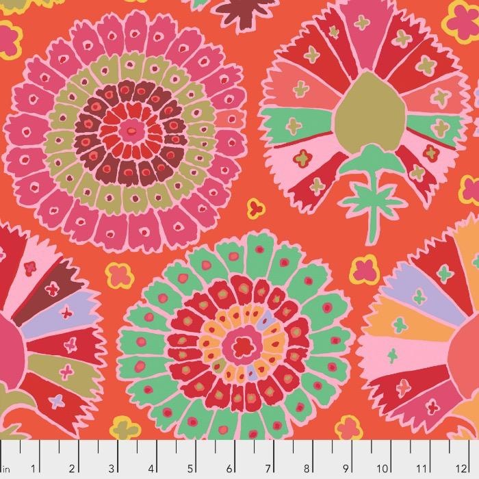 Kaffe Fassett Kaffe Collective 2019, Turkish Delight in Red, Fabric Half-Yards  PWGP081