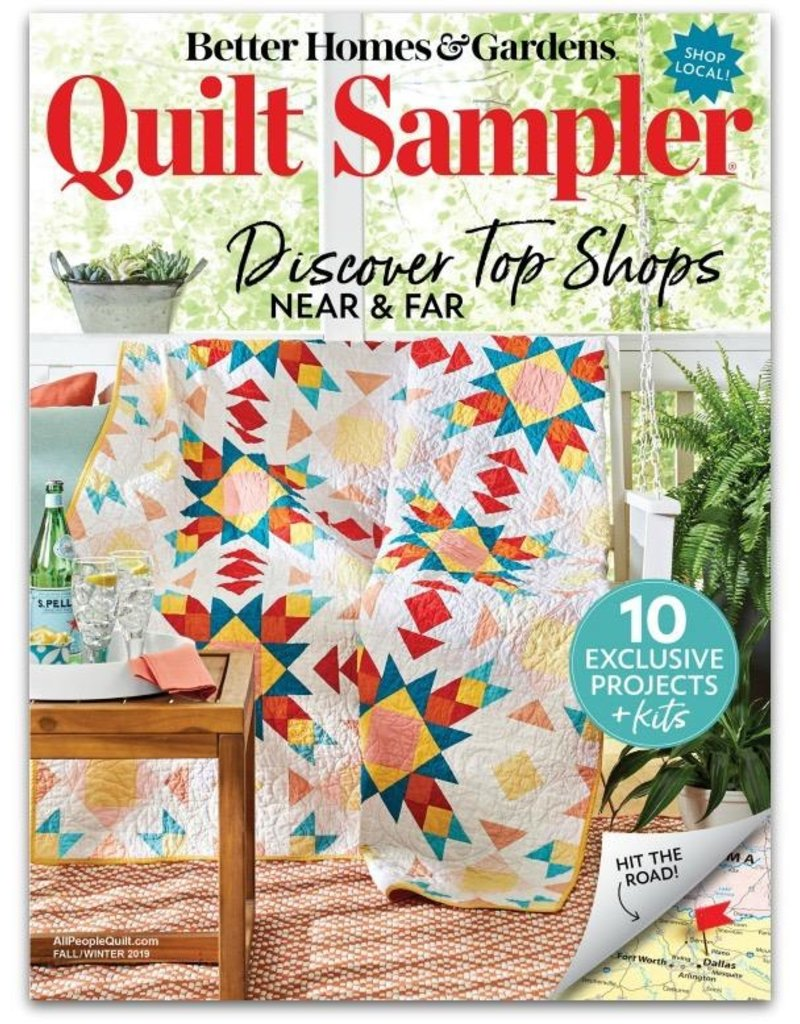 Quilt Sampler Magazine - Fall/Winter 2019 - Featuring Picking Daisies as a Top-10 Shop