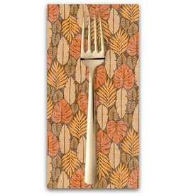 PD's Sevenberry Collection Island Paradise, Palm Fronds in Natural, Dinner Napkin