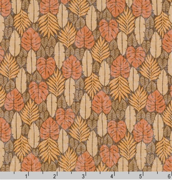Sevenberry Island Paradise, Palm Fronds in Natural, Fabric Half-Yards SB-4142D2-2