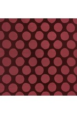 Kokka, Japan Corduroy 21 Wale in Burgandy and Rose, Fabric Half-Yards