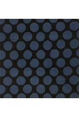Kokka, Japan Corduroy 21 Wale in Black and Blue, Fabric Half-Yards