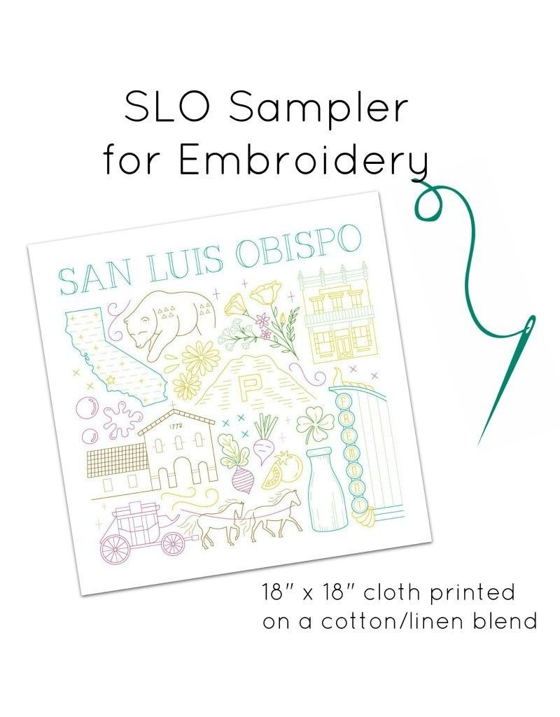 Picking Daisies SLO City Embroidery Sampler (cloth only)