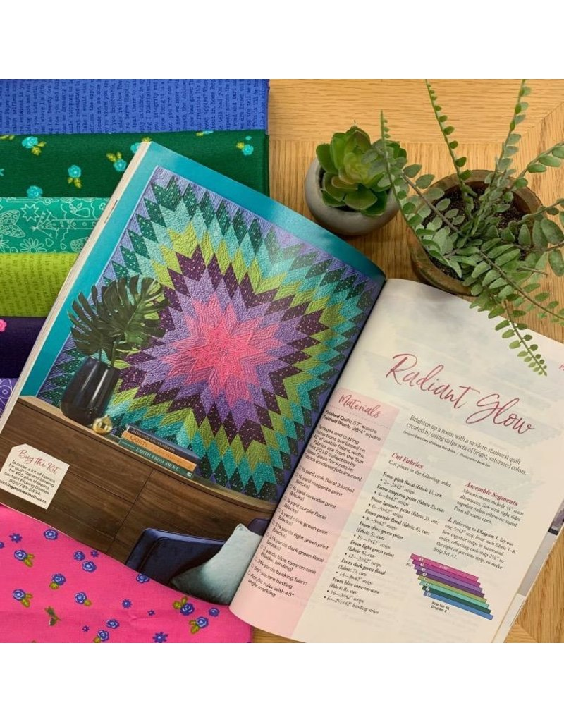 OUT OF STOCK-Radiant Glow Quilt Top Kit as featured in Quilt Sampler Magazine