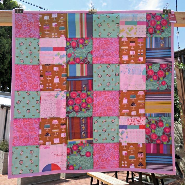 """Pink Bake Shop Stroller Blanket, 40""""x40"""""""