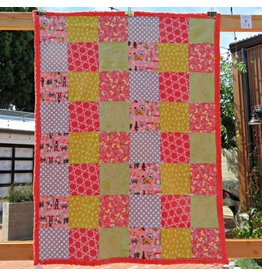 "Animal Parade Lap or Baby Quilt, 40""x50"""