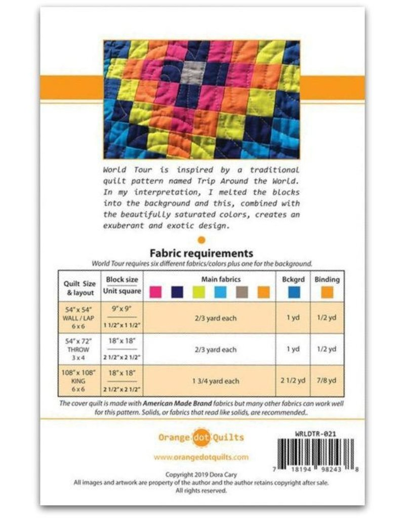 Orange Dot Quilts Orange Dot Quilt's World Tour Pattern