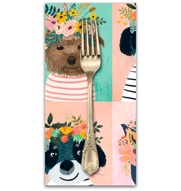 PD's Mia Charro Collection Floral Pets, Floral Puppy in Multi, Dinner Napkin