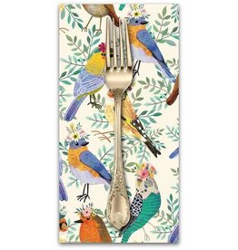 PD's Mia Charro Collection Birdie, Bird Meet in Ivory, Dinner Napkin