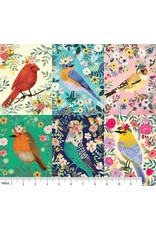 PD's Mia Charro Collection Birdie, Birdie Panel in Multi, Dinner Napkin
