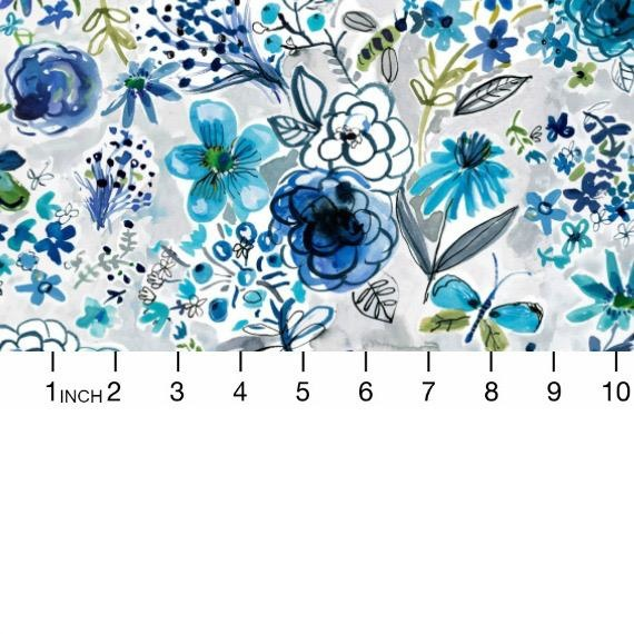 August Wren Blue Crush, Butterfly Dream in Multi Blue, Fabric Half-Yards STELLA-DAW1288