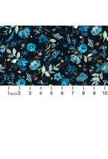 PD's August Wren Collection Blue Crush, Windblown in Multi Blue, Dinner Napkin