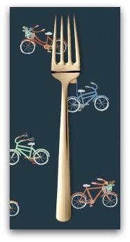PD's Dear Stella Collection Bicycles in Navy, Dinner Napkin