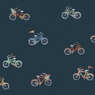 Dear Stella Bicycles in Navy, Fabric Half-Yards STELLA-1313