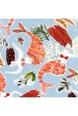 August Wren High Seas, Mermaids in Multi, Fabric Half-Yards STELLA-DAW1359