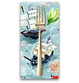 PD's August Wren Collection High Seas, Sail Ships in Multi, Dinner Napkin