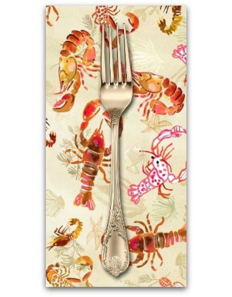 PD's August Wren Collection High Seas, Lobsters in Multi, Dinner Napkin