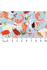 PD's August Wren Collection High Seas, Mermaids in Multi, Dinner Napkin