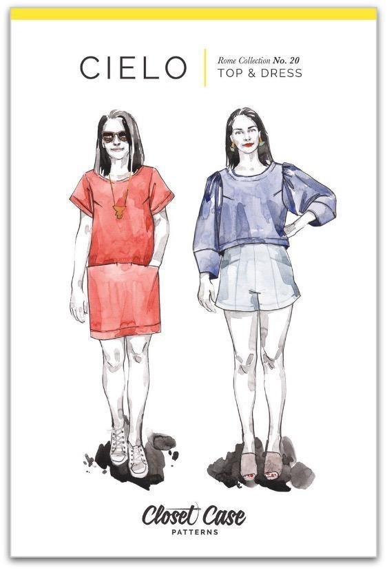 "Closet Case Patterns Closet Case ""Cielo Top & Dress"" Pattern"