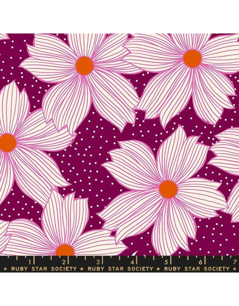 PD's Ruby Star Society Collection Ruby Star Society, Crescent Floral in Purple Velvet, Dinner Napkin