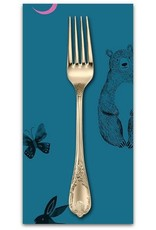PD's Ruby Star Society Collection Ruby Star Society, Crescent Animal Friends in Teal, Dinner Napkin
