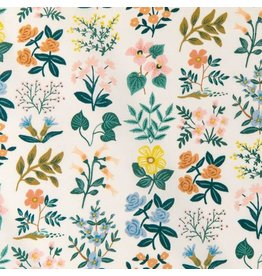 Rifle Paper Co. Cotton Lawn, Meadow, Wildflower Field in Cream, Fabric Half-Yards RP202-CR1L
