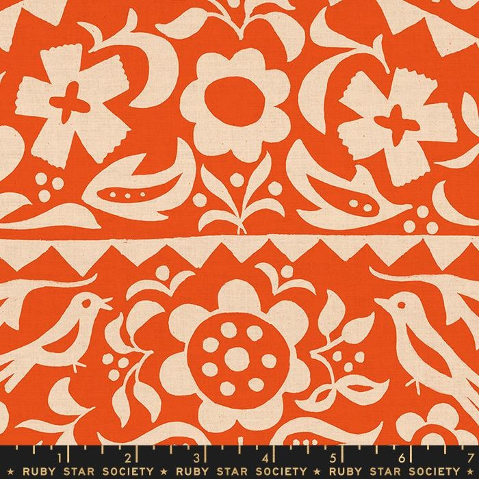 PD's Ruby Star Society Collection Ruby Star Society, Alma, Market Floral in Warm Red, Dinner Napkin
