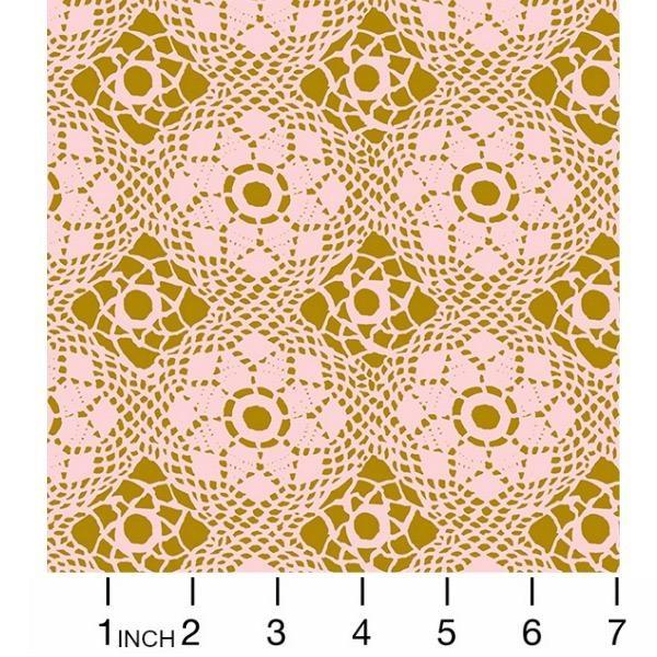 PD's Alison Glass Collection Handiwork, Crochet in Blush, Dinner Napkin