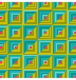 Alison Glass Handiwork, Patchwork in Ocean, Fabric Half-Yards A-9251-G