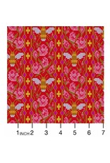 Alison Glass Handiwork, Beadwork in Scarlet, Fabric Half-Yards A-9250-E