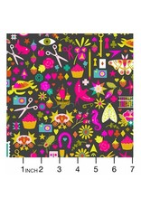 Alison Glass Handiwork, Decoupage in Ink, Fabric Half-Yards A-9249-C