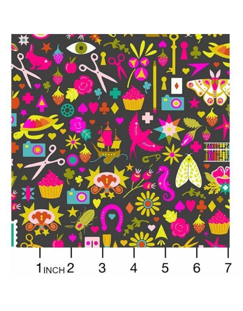 "Alison Glass Handiwork, Decoupage in Ink, Fabric Half-Yards A-9249-C (30""  CUT REMAINING)"