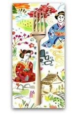 PD's August Wren Collection Tokyo Dreams, Kyoto Garden in White, Dinner Napkin