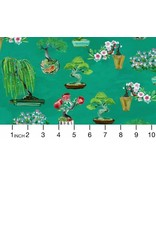 PD's August Wren Collection Tokyo Dreams, Bonsai in Multi, Dinner Napkin