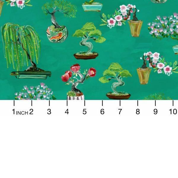 PD's August Wren Collection Tokyo Dreams, Bonsai in Multi, Dinner Napkin