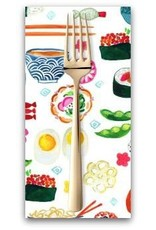 PD's August Wren Collection Tokyo Dreams, Sushi in White, Dinner Napkin