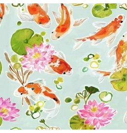 August Wren Tokyo Dreams, Koi Pond in Multi, Fabric Half-Yards STELLA-DAW1396