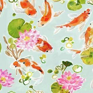 Tokyo Dreams Koi Pond In Multi Fabric Half Yards Stella Daw1396