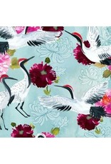 August Wren Tokyo Dreams, Cranes in Multi, Fabric Half-Yards STELLA-DAW1394
