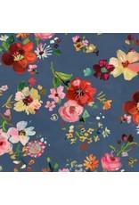 August Wren Tokyo Dreams, Bouquets in Multi, Fabric Half-Yards STELLA-DAW1399