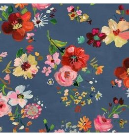 August Wren Tokyo Dreams, Bouquets in Multi, Fabric Half-Yards STELLA-DAW1399
