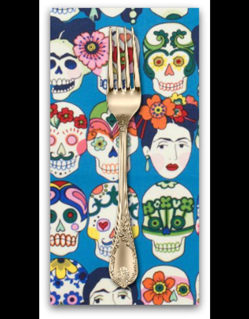 PD's Alexander Henry Collection Folklorico, Gotas de Amor in Royal, Dinner Napkin