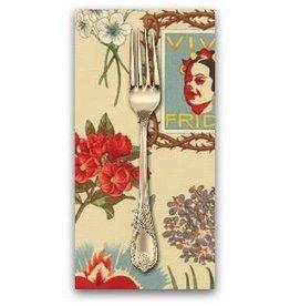 PD's Alexander Henry Collection Folklorico, Viva Frida in Parchment, Dinner Napkin